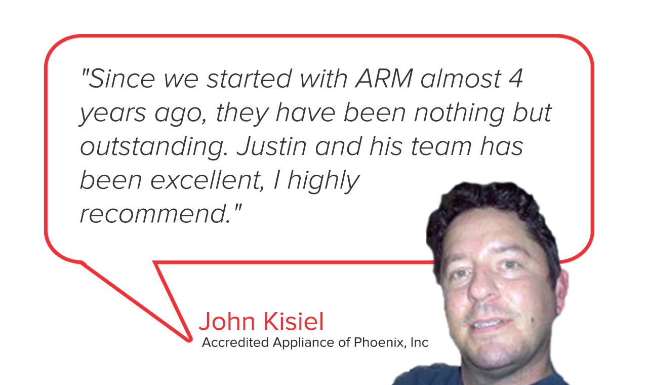 Accredited Appliance of Phoenix | John Kisiel Testimonial