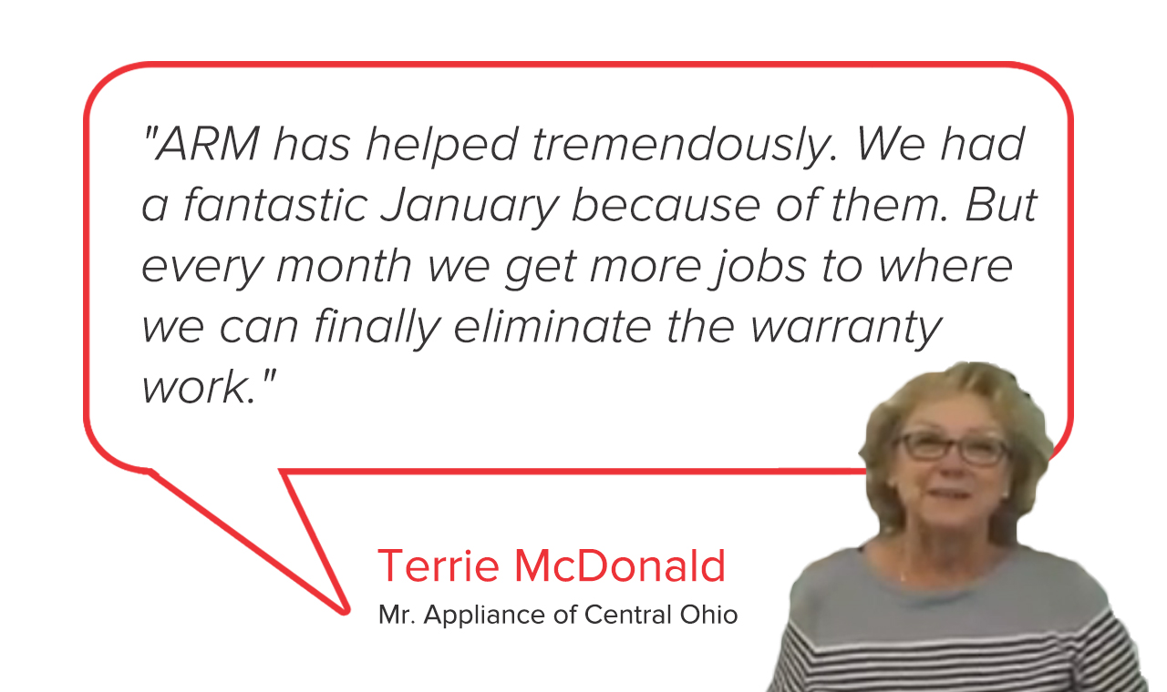 Mr. Appliance of Central Ohio | Terrie McDonald Testimonial