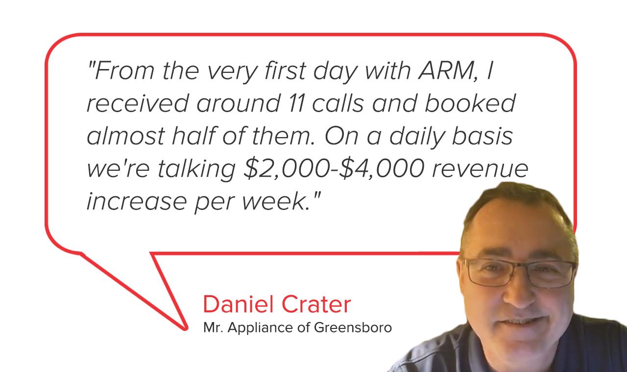 Mr. Appliance of Greensboro   Daniel Crater Testimonial